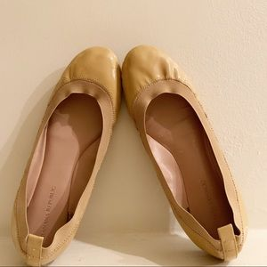 Banana Republic Abby Nude Patent Leather Flat Sz 8